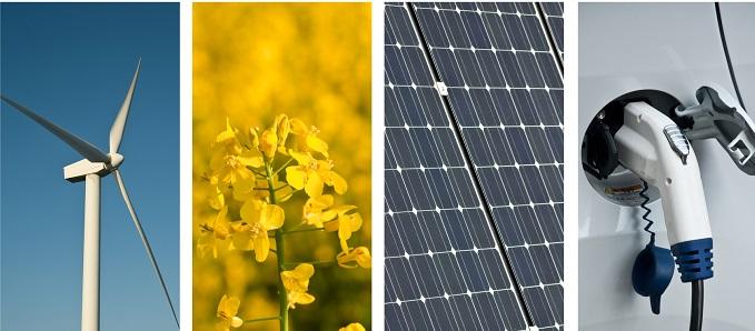 Wiatrak elektryczny, uprawa roślin, bateria słoneczna, samochód elektryczny