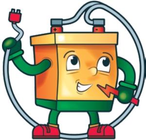 akumulator w formie graficznej dla dzieci